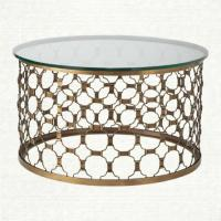Contemporary Brass Coffee Table
