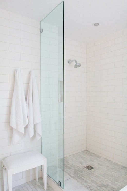 Glass Shower Partition Contemporary Bathroom Bestor Architecture