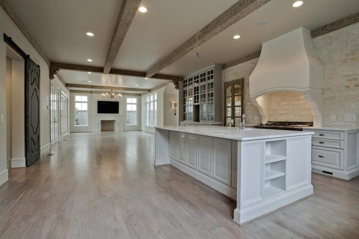 Kitchen Island Height Paneled Kitchen Island - Transitional - Kitchen - Coats Homes