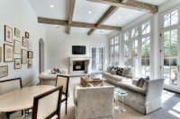 French Doors Living Room - Transitional - living room ...