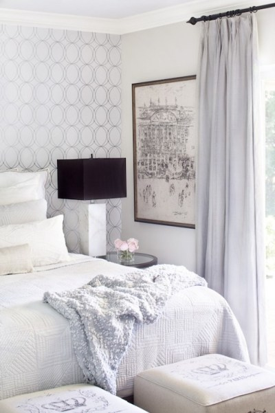 Accent Wall Behind Bed Design Ideas