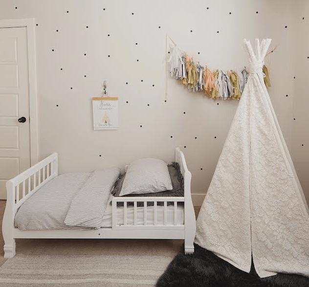 Girls Pink Bedroom Wallpaper Kids Teepee Eclectic Boy S Room Oh My Dear Blog