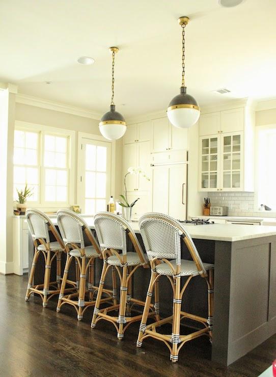 Girl Leg Wallpaper Bistro Counter Stools Transitional Kitchen Belmont