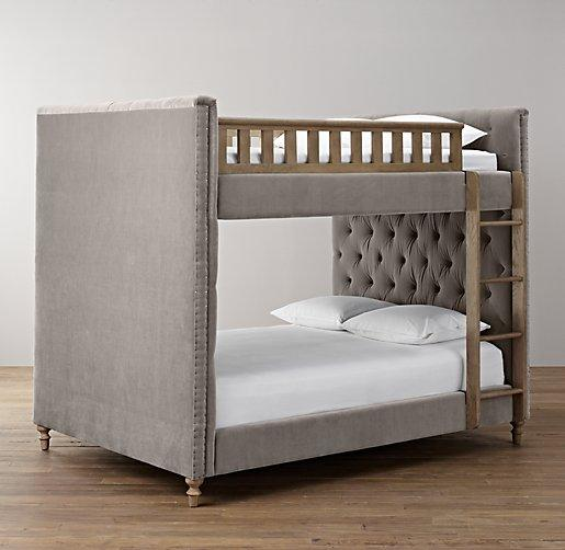 Pinterest Girls Kids Rooms With Wood Wallpaper Chesterfield Upholstered Full Over Full Grey Bunk Bed