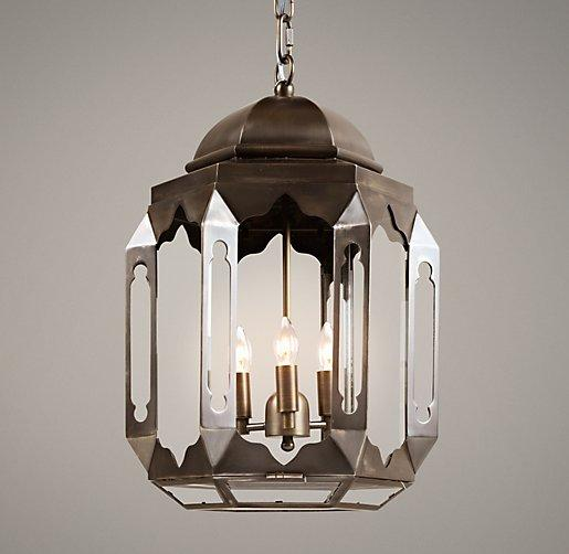 Lantern Bathroom Lighting Moroccan Lantern Metalic Silver Tin Pendant : Moroccan