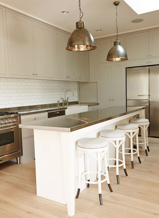 Kitchen Cabinet Hardware For White Cabinets Cottage - Kitchen - Sherwin Williams Pearly White