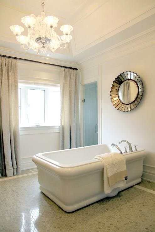 Bathroom Lighting Mirror Over Bathtub - Transitional - Bathroom - Tomas