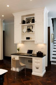 Kitchen Desk Ideas - Transitional - kitchen - Crown Point ...