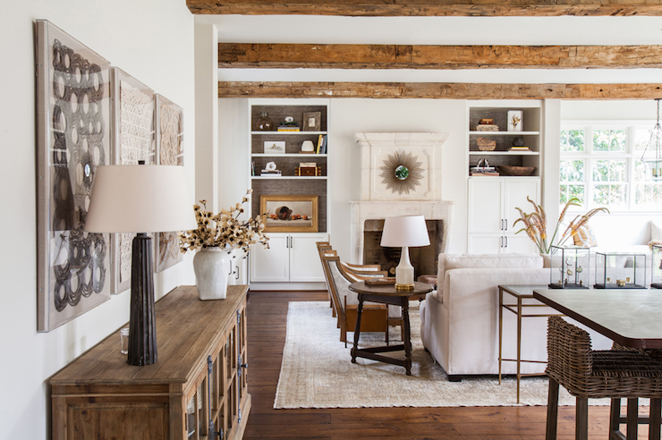Living Room Built Ins - Transitional - living room - Marie Flanigan