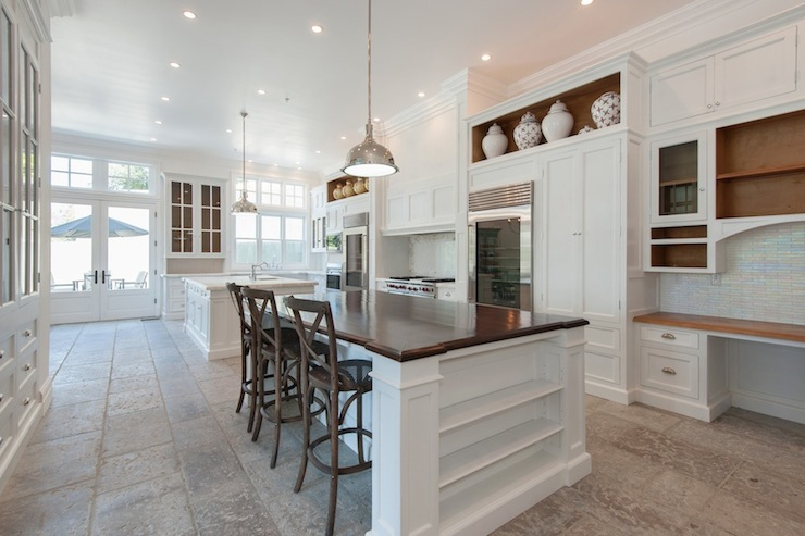 Kitchen Islands With Storage And Seating Wood Island Countertop - Transitional - Kitchen - Pricey Pads