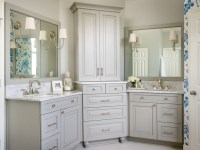 His and Hers Vanities - Transitional - bathroom - Kandrac ...