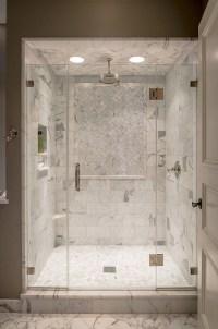 Marble Shower ledge - Transitional - bathroom - Archer ...