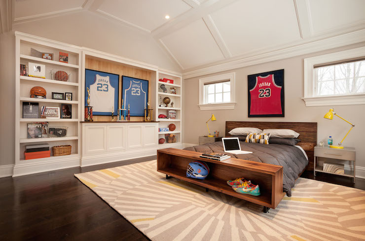 Basketball Themed Kids Room Contemporary Boy39s Room