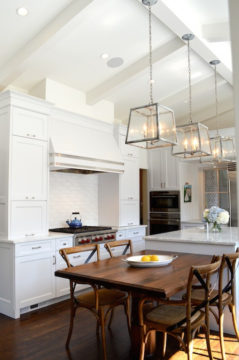 Kitchen Island With Cooktop And Prep Sink Cream Kitchen Cabinets - Transitional - Kitchen - Murphy