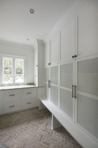 Herringbone Brick Pavers - Transitional - laundry room ...