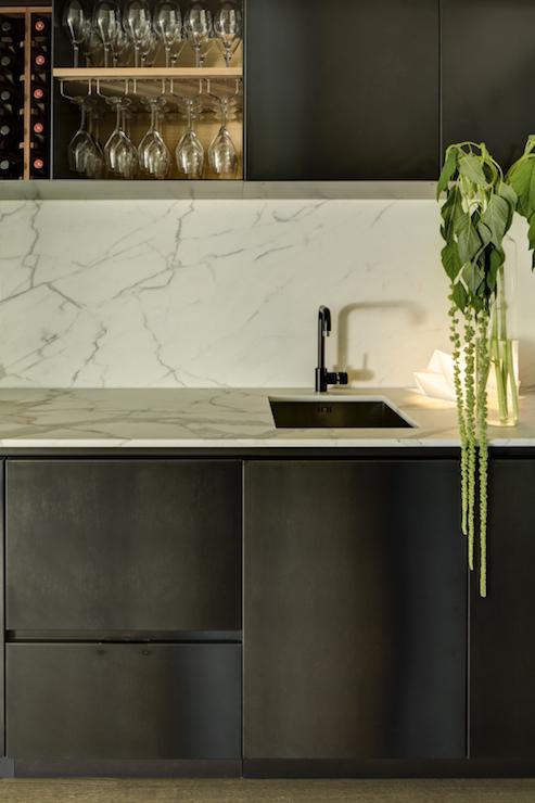 Open Girl Wallpaper Modern Wet Bar Modern Kitchen Bureaux Limited