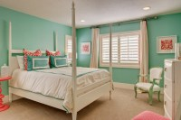 Turquoise Kids Room - Transitional - girl's room - Ivory Homes