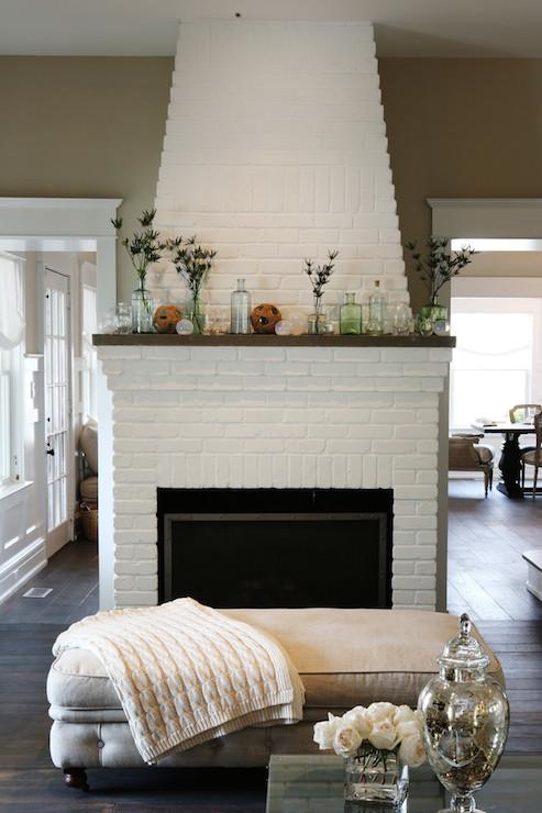Black Trellis Wallpaper Beach Cottage Bedroom With Fireplace Design Ideas