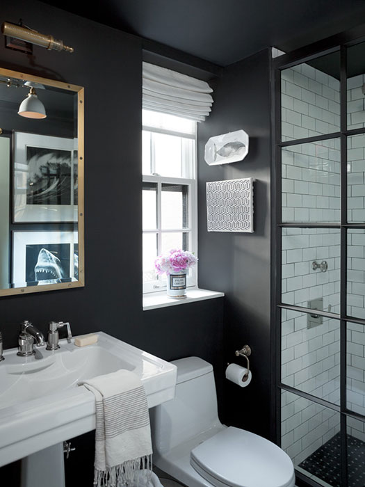 Subway Tile With Dark Grout Bathroom With Subway Tiles - Contemporary - Bathroom