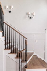 Staircase Sconces - Transitional - entrance/foyer ...