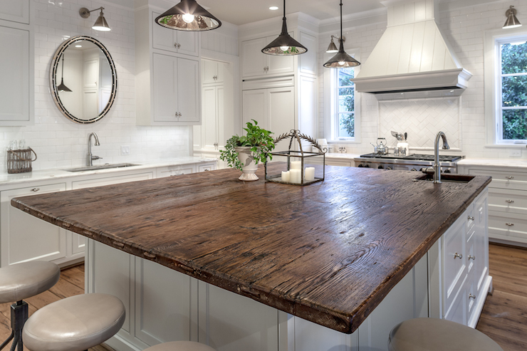 Kitchen Island Overhang For Stools Oak Countertops - Cottage - Kitchen - Frasier Homes