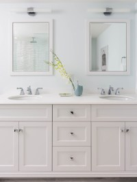 White Shaker Vanity Cabinets Design Ideas