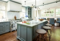 Blue Gray Cabinets - Transitional - Kitchen - Westbrook ...