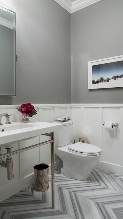 Girl Leg Wallpaper Chevron Pattern Tiles Transitional Bathroom Hirshson