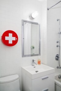 Red Cross Medicine Round Bathroom Cabinet - Contemporary ...