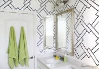 Bathroom with Wall Stencils - Contemporary - Bathroom ...