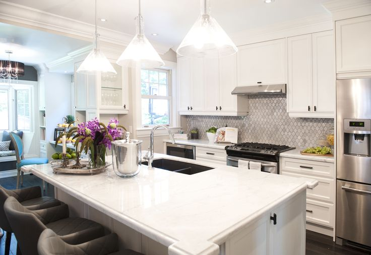 fantastic kitchen boasts cone shaped light pendants illuminate kitchen sink backsplash ideas ehow