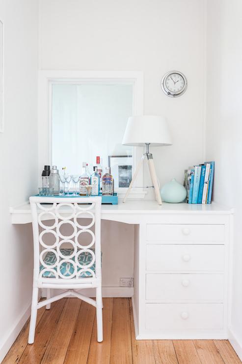 Cute Girly Wallpaper For Bedroom Built In Desk Nook Cottage Bedroom Coastal Style