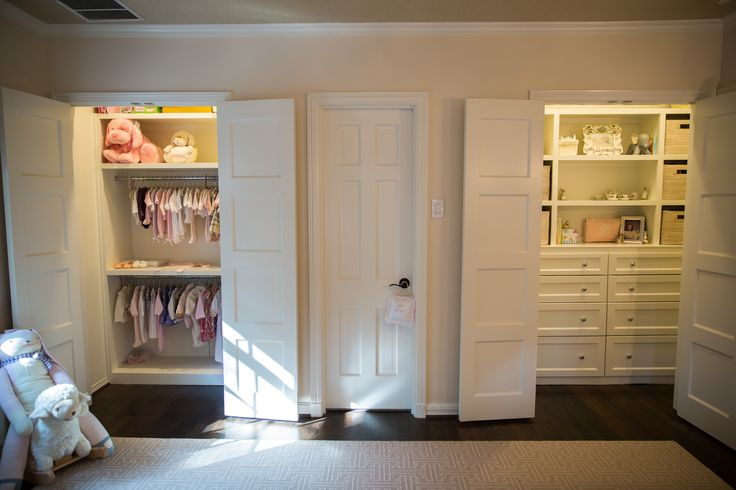 Girls Without Clothes Wallpaper Nursery With Two Closets Transitional Nursery Amy
