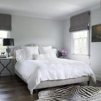 Black Canopy Bed with Black Headboard - Transitional - Bedroom