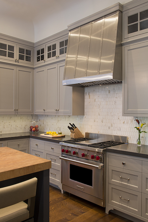view kitchens stainless steel subway tile kitchen backsplash painted shaker