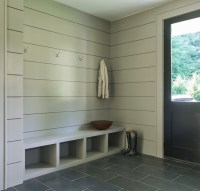 Modern Gray Mudrooms - Modern - Laundry Room