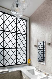 Sconces on Mirror - Transitional - bathroom - Ashley ...