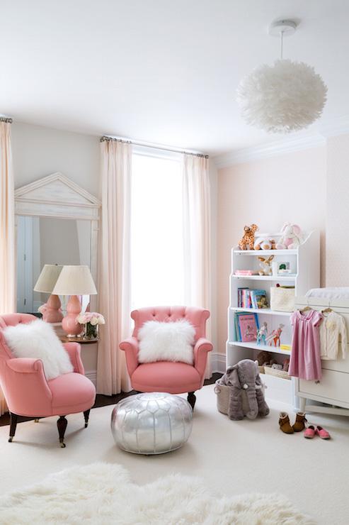 Wallpaper Teenage Girl Bedroom Pink Nursery Ideas Transitional Nursery