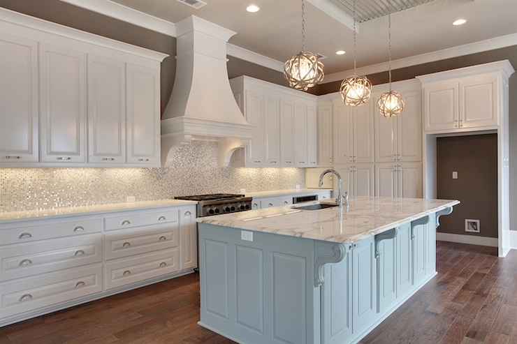 gorgeous kitchen features crisp white cabinets accented raised kitchen ideas modern kitchen backsplash ideas furniture