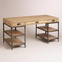 Wood and Metal Teagan Natural Desk