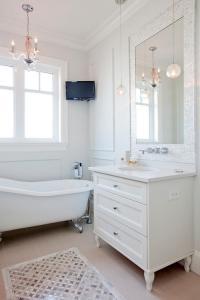 Mother of Pearl Vanity Mirror - Transitional - Bathroom ...