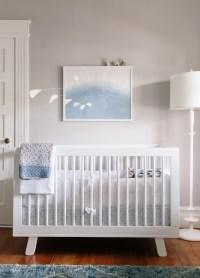 White and Gray Boys Nursery - Transitional - Nursery