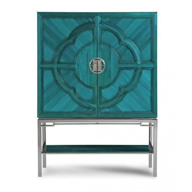 Cary Blue Bar Cabinet