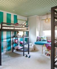 Kids Bed Window Seat Design Ideas