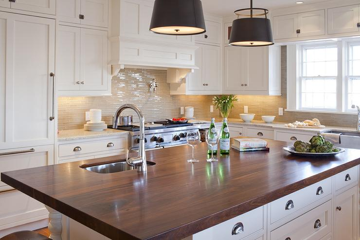 white kitchen cabinets wood countertops kitchen ideas kitchen island counters couchable