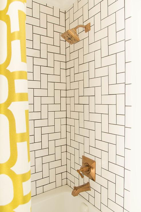 Merola Tile Penny Tiled Shower Niche - Contemporary - Bathroom