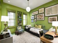 Boys Room With Green Walls Design Ideas