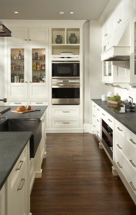 Pictures Of Kitchens With Gray Cabinets Kitchen With Gray Painted Ceiling - Transitional - Kitchen