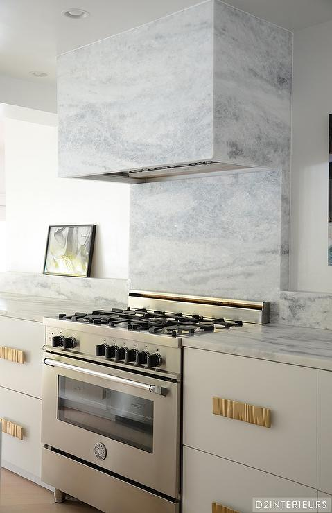 Kitchen with Marble Hood - Contemporary - Kitchen
