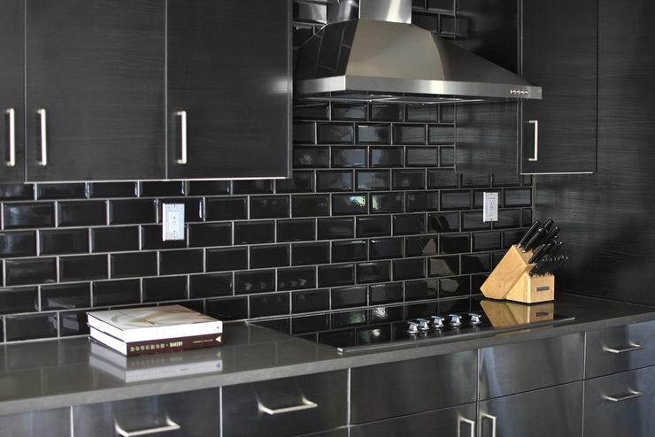 stainless steel kitchen cabinets black subway tile backsplash kitchen subway tile backsplash classic sweetest digs